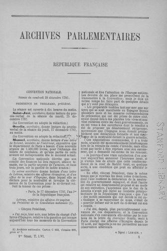 Tome 56 : Du 28 décembre 1792 au 11 janvier 1793 - page 1