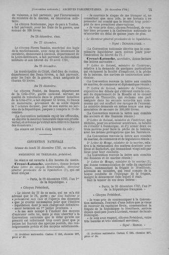 Tome 56 : Du 28 décembre 1792 au 11 janvier 1793 - page 75
