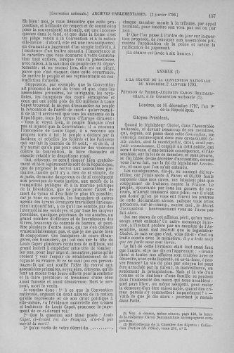 Tome 56 : Du 28 décembre 1792 au 11 janvier 1793 - page 157