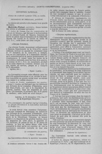 Tome 56 : Du 28 décembre 1792 au 11 janvier 1793 - page 187