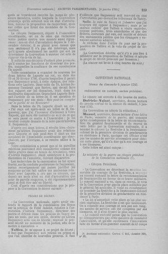 Tome 56 : Du 28 décembre 1792 au 11 janvier 1793 - page 239