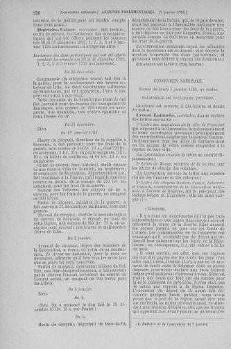 Tome 56 : Du 28 décembre 1792 au 11 janvier 1793 - page 256