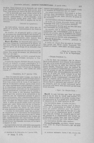 Tome 56 : Du 28 décembre 1792 au 11 janvier 1793 - page 257
