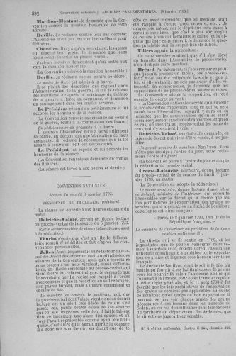 Tome 56 : Du 28 décembre 1792 au 11 janvier 1793 - page 592