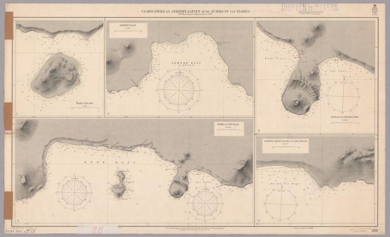 Vaarwaters en Ankerplaatsen op de Zuidkust van Flores