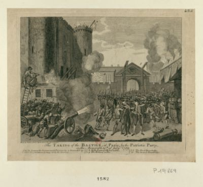 The  Taking of the Bastile, at Paris, by the patriotic party, on the memorable 14th of July 1789 [estampe]