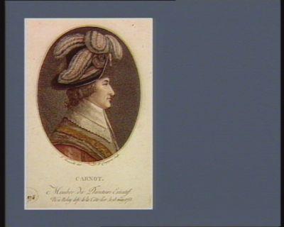 Carnot membre du Directoire exécutif, né à Nolay dep.t de la Côte d'or, le 13 may 1753 : [estampe]