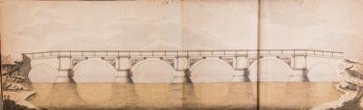 Ponte Rotto o Emilio, ricostruzione del ponte quale doveva essere al tempo di Paolo V