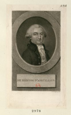 De Hertog d'Aiguillon [estampe]