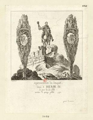 Representation du bouquet donné à Henri IV le jour de sa fête arrivée le quinze juillet 1790 [estampe]