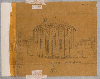 Tempio di Vesta visto dalla parte della porta