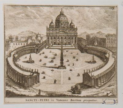 Sancti Petri in Vaticano Basilicae prospectus