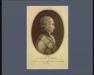 Carlo Luigi archiduca d'Austria <em>é</em> genera.mo delle armi imperiali al Reno : [estampe]