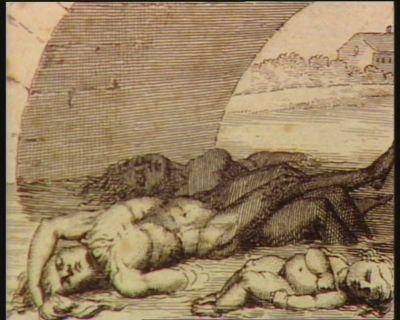 1.ere plaie les eaux changées en sang. Les massacres d'Avignon de Jalès, de Lyon, de la Vendée, de Paris, &c &c. Des bourreaux acharnés leur déchiraient le flanc Et la Loire et le Rhône ont été teints de sang : [estampe]
