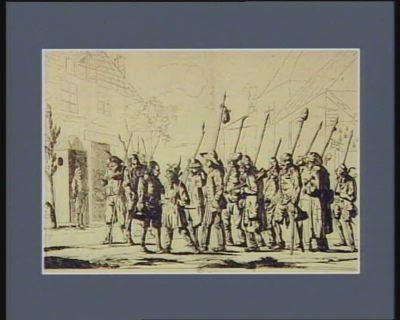 Patrouille révolutionnaire amis quelles moisson sofre à notre courage ! laissons la les lauriers, mais courons au pillage : [estampe]