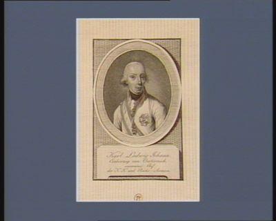 Karl Ludwig Johann Erherzog von Osterreich souverainer chef der K.K. und Reichs-Armeen : [estampe]