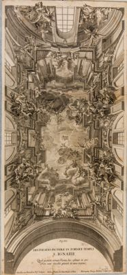 Chiesa di S. Ignazio, decorazioni del soffitto