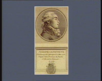 Joseph Genevieve c.te de Puisaye né à Mortagne le 6 mars 1755 député de la province du Perche à l'Assemblée nationale de 1789 : [estampe]