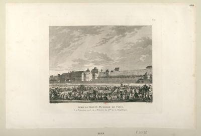 Mort de Bailly, ex-maire de Paris le 12 novembre 1793, ou 22 brumaire an 2.eme de la République : [estampe]