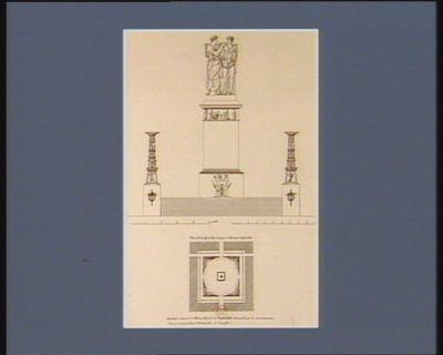 Plan de la place des Vosges ci-devant Louis XIII monument consacré à l'Himen, allégorie de l'Indivisibilité demandée par le gouvernement l'an 4 : [estampe]