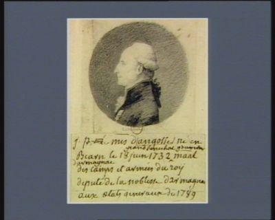 J. Pierre le m.is d'Angosse grand sénéchal gouverneur d'Armagnac né en Béarn le 18 juin 1732, ma.al des camps et armées du roy député de la noblesse d'Armagnac aux Etats généraux de 1789 : [dessin]