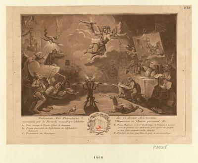 Fédération anti patriotique des ci-devant aristocrates convoquée par la discorde accueilli par l'ambition, l'hipocrisie et l'interet personnel &c... : [estampe]