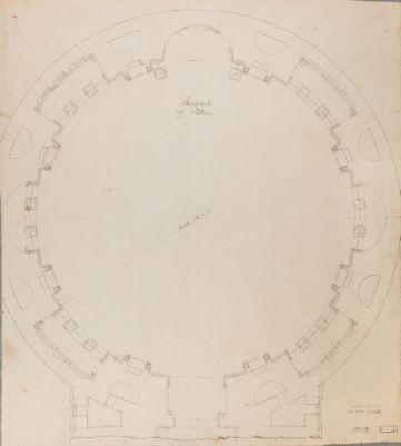 Piano terra del Pantheon, pianta