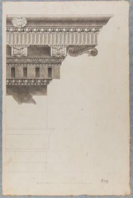 Tempio di Castore e Polluce, dettaglio cornicione