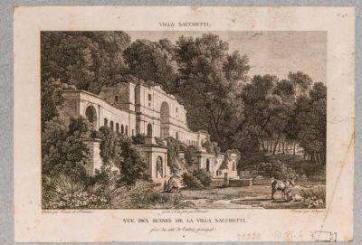 Villa Sacchetti. Casino, veduta di scorcio