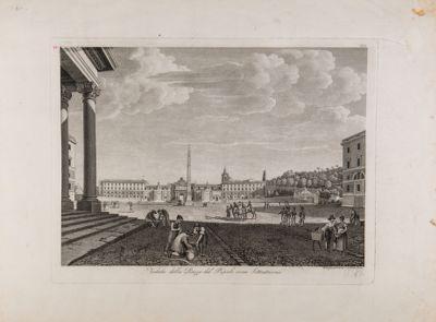 Piazza del Popolo con sfondo della porta