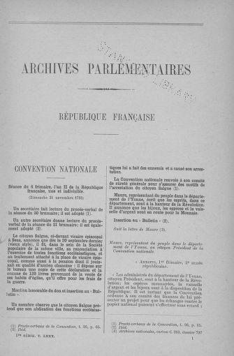 Tome 80 : Du 24 novembre au 5 décembre 1793 - page 1