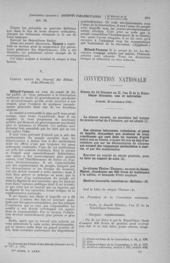 Tome 80 : Du 24 novembre au 5 décembre 1793 - page 369
