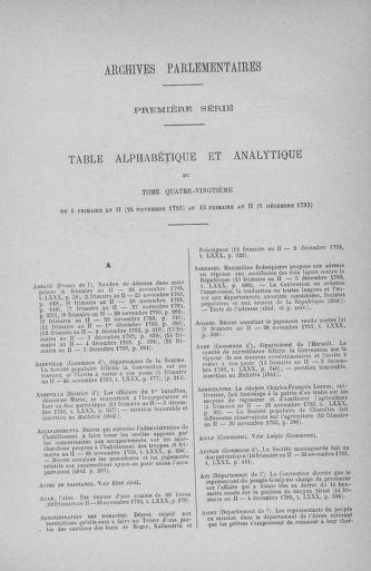 Tome 80 : Du 24 novembre au 5 décembre 1793 - page ..