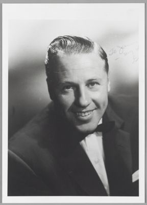 Publicity photograph of Squire Girsback, during his time with Louis Armstrong