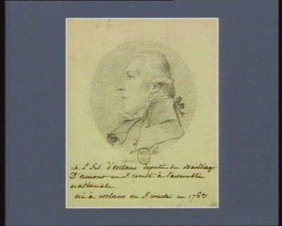 Ch.P.F. d'Esclans député du bailliage d'Amont en F. Comté <em>à</em> l'Assemblée nationale, né <em>à</em> Esclans en F. Comté en 1763 : [dessin]
