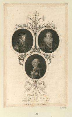 XVI égalle XII plus IV Preuve par l'Addition. Louis XII ... Ami du Peuple. Henry IV ... Pere de ses Sujets. Louis XVI ... l'un & l'autre : [estampe]