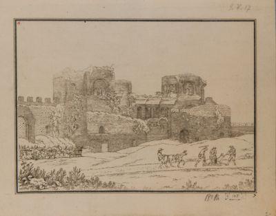 Mura Lateranensi viste dall'interno presso porta Asinaria