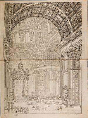 Chiesa di S. Pietro in Vaticano. Interno, veduta della nave traversa