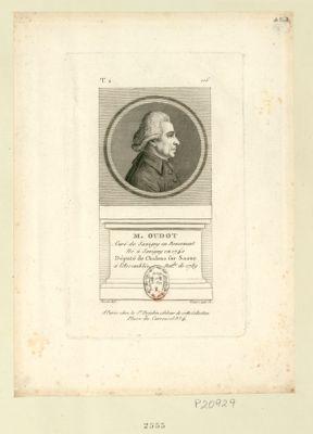 M. Oudot curé de Savigny en Revermont né à Savigny en 1740 député de Chalons sur Saone à l'Assemblée nat.le de 1789 : [estampe]