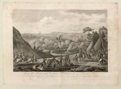 Prise de Toulon par l'armée française, le 29 frimaire an 2 sous le commandement du général en chef Dugommier, après 5 jours et 5 nuits de siège, contre les armées anglaise et espagnole : [estampe]