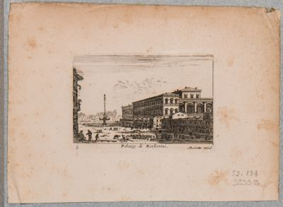 Palazzo Barberini. Veduta generale della piazza omonima