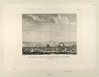 Les  Troupes du Champ de Mars partant pour la place Louis XV le 12 juillet 1789 : [estampe]