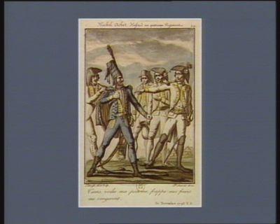 Michel Achet hussard au quatrieme régiment tiens, voilà ma poitrine, mes freres me vengeront. 30 novembre <em>1793</em> v.s. : [estampe]