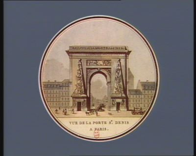 Vue <em>de</em> la porte St Denis a <em>Paris</em> [estampe]