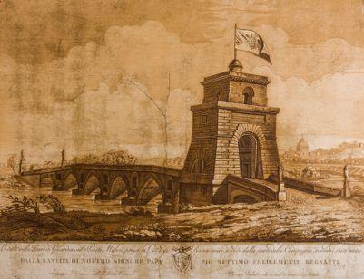 Ponte Milvio, veduta generale della riva destra