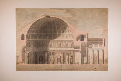 Pantheon in Roma, sezione longitudinale