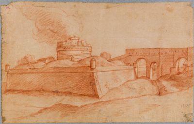 Castel S. Angelo con corridoio verso il Palazzo Vaticano