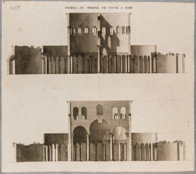 Profils du Temple de Faune a Rome