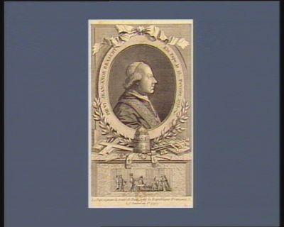 Pie <em>VI</em> Jean-Ange Braschy élu pape le 15 fevrier 1775 Le Pape signant le traité de paix avec la république française, le 1.r ventose an V.e (1797) : [estampe]