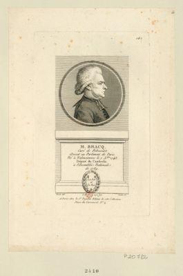 M. Bracq curé de Ribecourt. Avocat au Parlement de Paris. Né à Valenciennes le 7 X.bre 1743 député du Cambresis à l'Assemblée nationale de 1789 : [estampe]